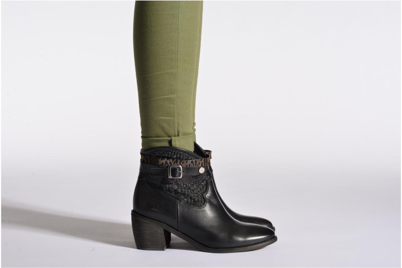 Bottines et boots Le temps des cerises Brook Noir vue bas / vue portée sac
