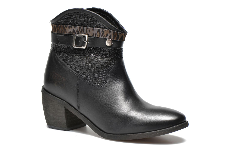 Boots en enkellaarsjes Le temps des cerises Brook Zwart detail