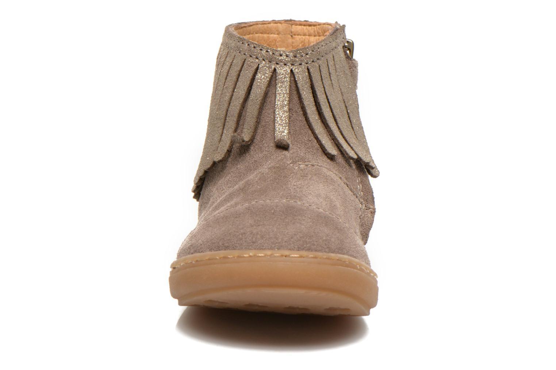 Bottines et boots Shoo Pom Bouba Fringe Beige vue portées chaussures