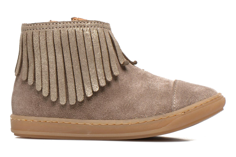 Bottines et boots Shoo Pom Bouba Fringe Beige vue derrière