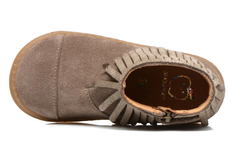 Bottines et boots Shoo Pom Bouba Fringe Beige vue gauche