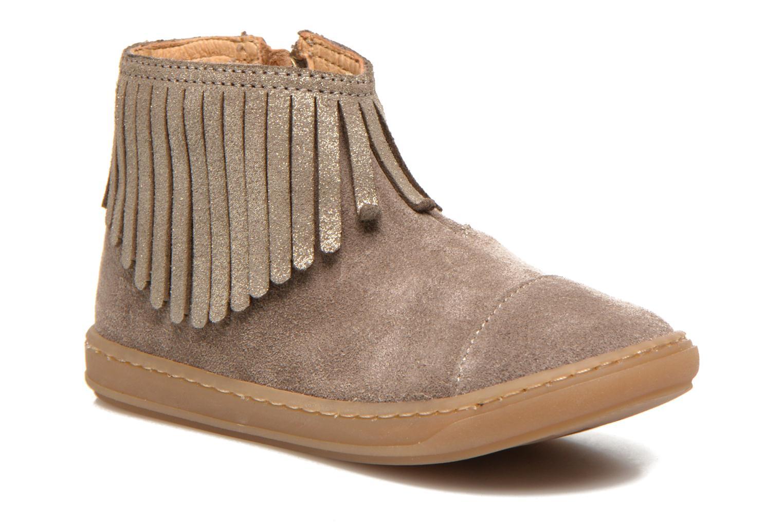 Bottines et boots Shoo Pom Bouba Fringe Beige vue détail/paire