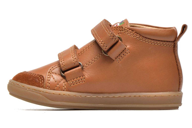 Schoenen met klitteband Shoo Pom Bouba Bi Vel Bruin voorkant