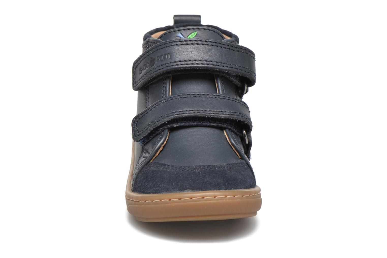 Chaussures à scratch Shoo Pom Bouba Bi Vel Bleu vue portées chaussures