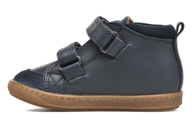 Chaussures à scratch Shoo Pom Bouba Bi Vel Bleu vue face