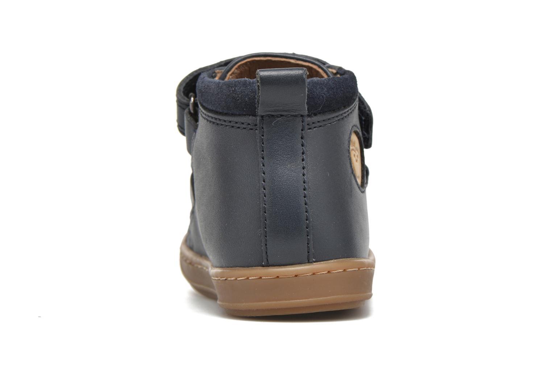 Chaussures à scratch Shoo Pom Bouba Bi Vel Bleu vue droite