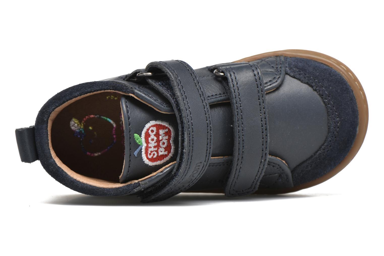 Chaussures à scratch Shoo Pom Bouba Bi Vel Bleu vue gauche