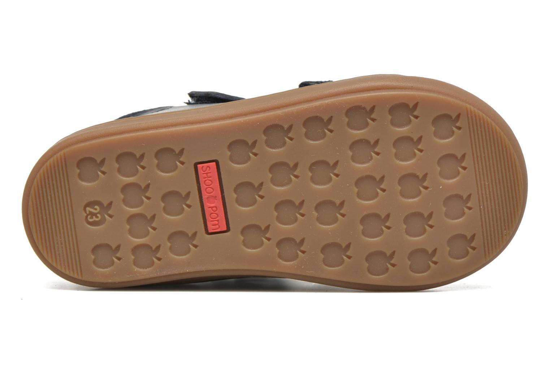 Chaussures à scratch Shoo Pom Bouba Bi Vel Bleu vue haut