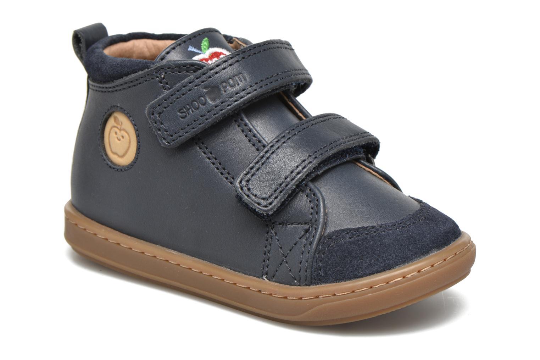Chaussures à scratch Shoo Pom Bouba Bi Vel Bleu vue détail/paire