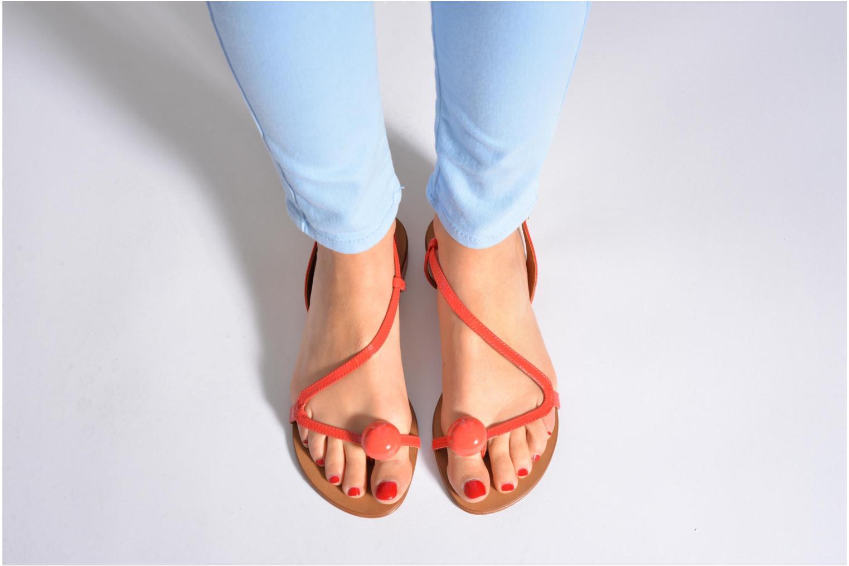 Sandales et nu-pieds Georgia Rose Calindda Noir vue bas / vue portée sac