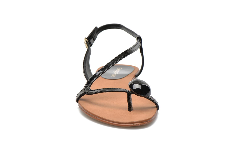 Sandales et nu-pieds Georgia Rose Calindda Noir vue portées chaussures