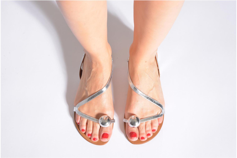 Sandales et nu-pieds Georgia Rose Calindda Argent vue bas / vue portée sac