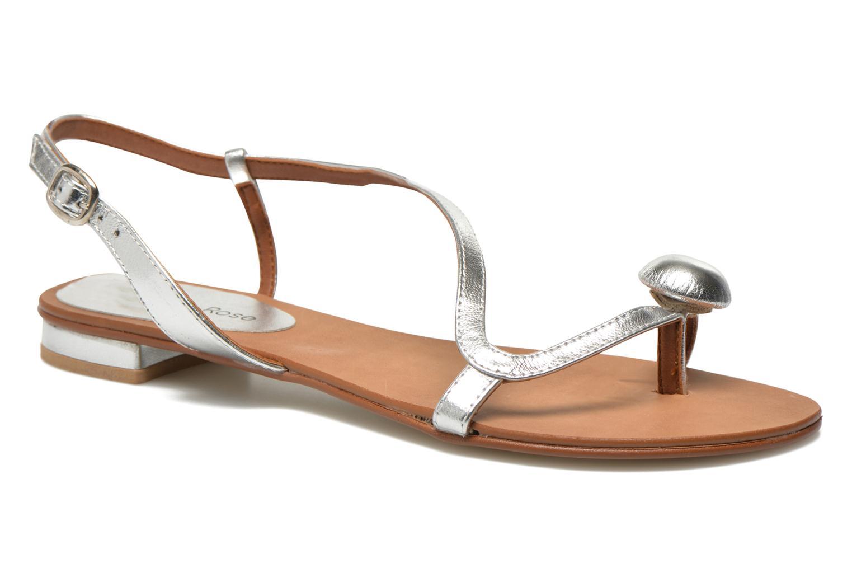 Sandales et nu-pieds Georgia Rose Calindda Argent vue détail/paire