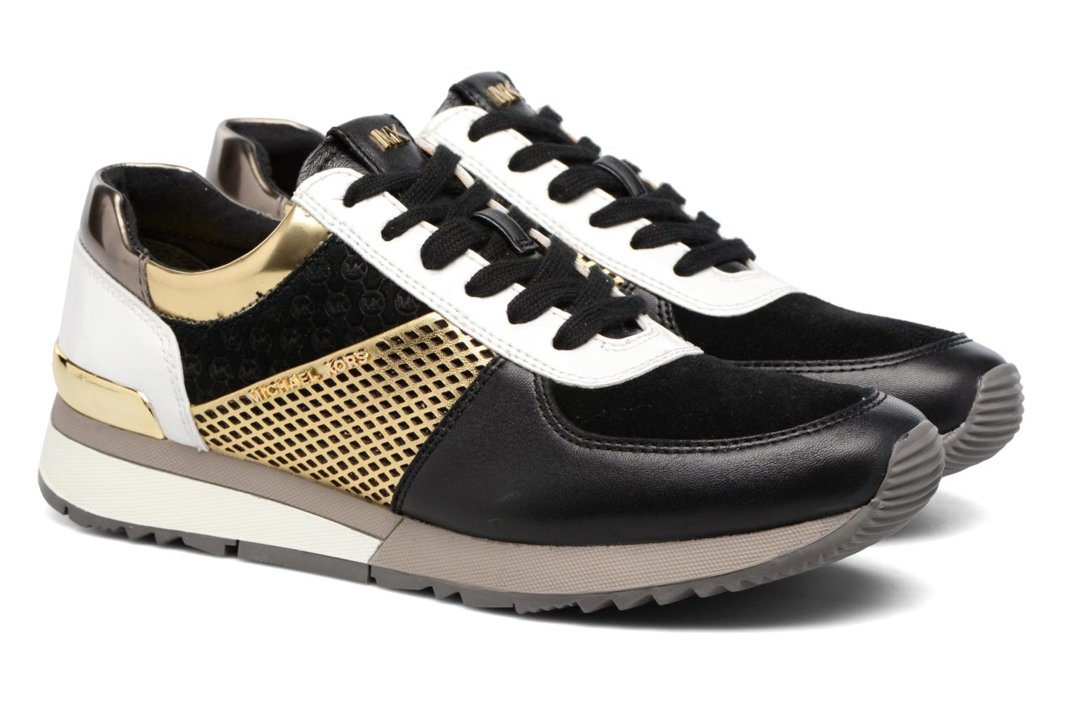 Baskets Michael Michael Kors Allie trainer Noir vue 3/4