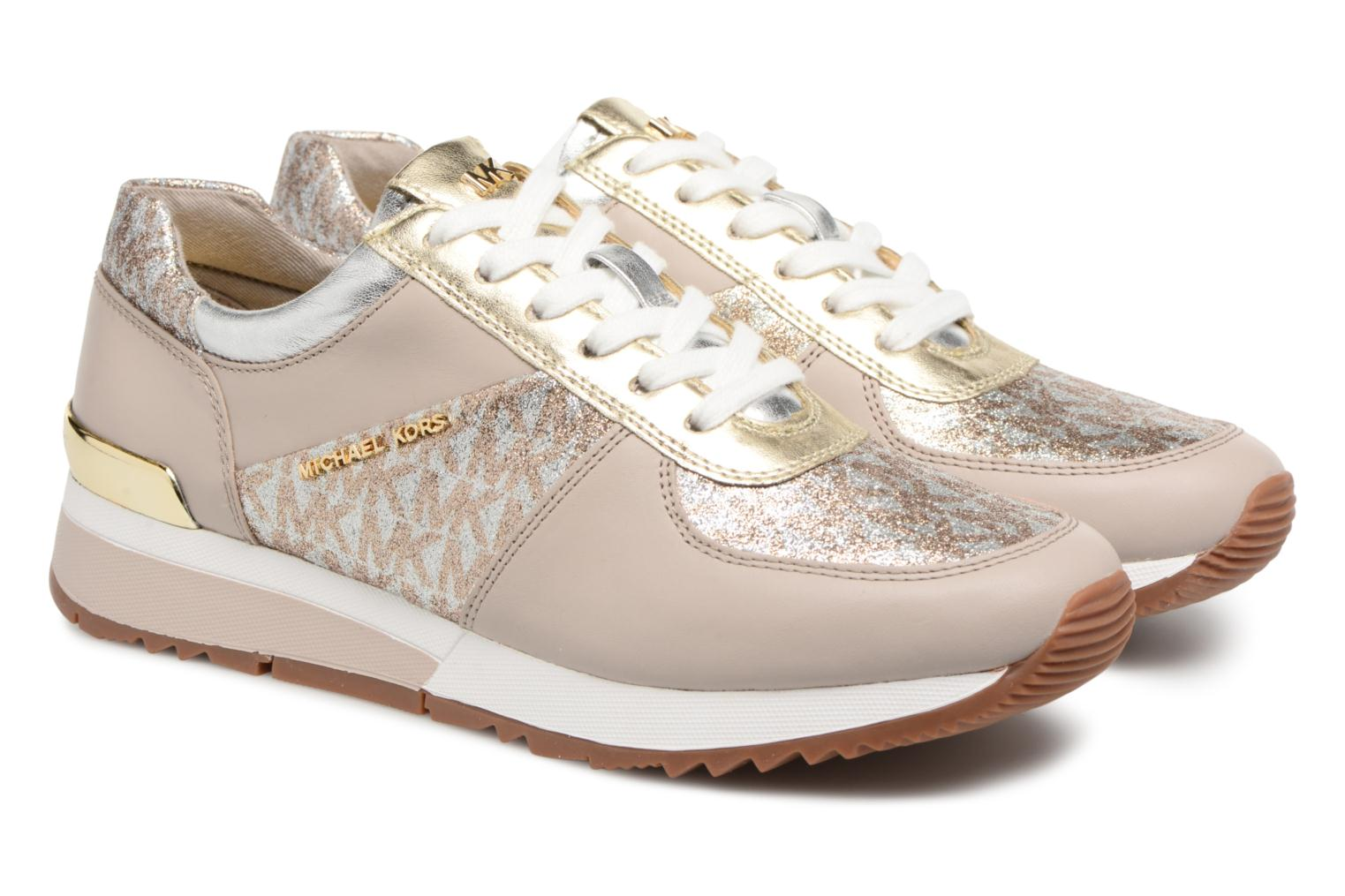 Trainers Michael Michael Kors Allie Trainer Beige 3/4 view