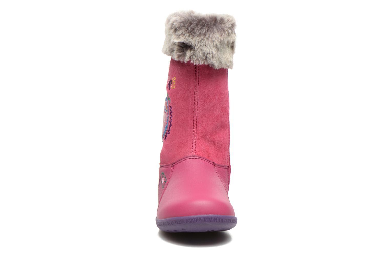 Bottes Agatha Ruiz de la Prada Cazoleta Infantil Rose vue portées chaussures