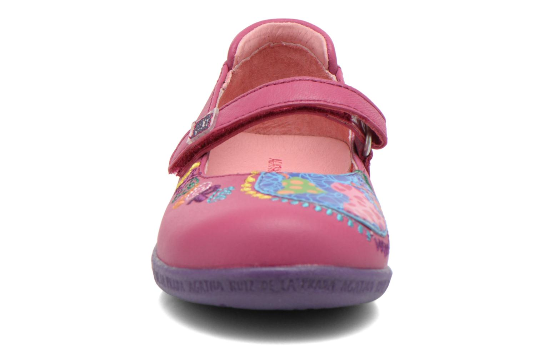 Ballerines Agatha Ruiz de la Prada Cazoleta Rose vue portées chaussures