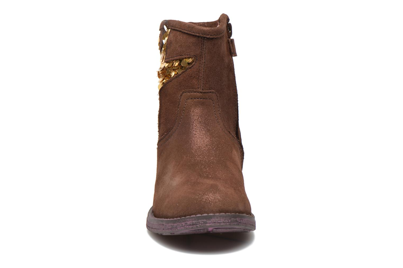 Bottines et boots Agatha Ruiz de la Prada Vagabunda Agatha Marron vue portées chaussures