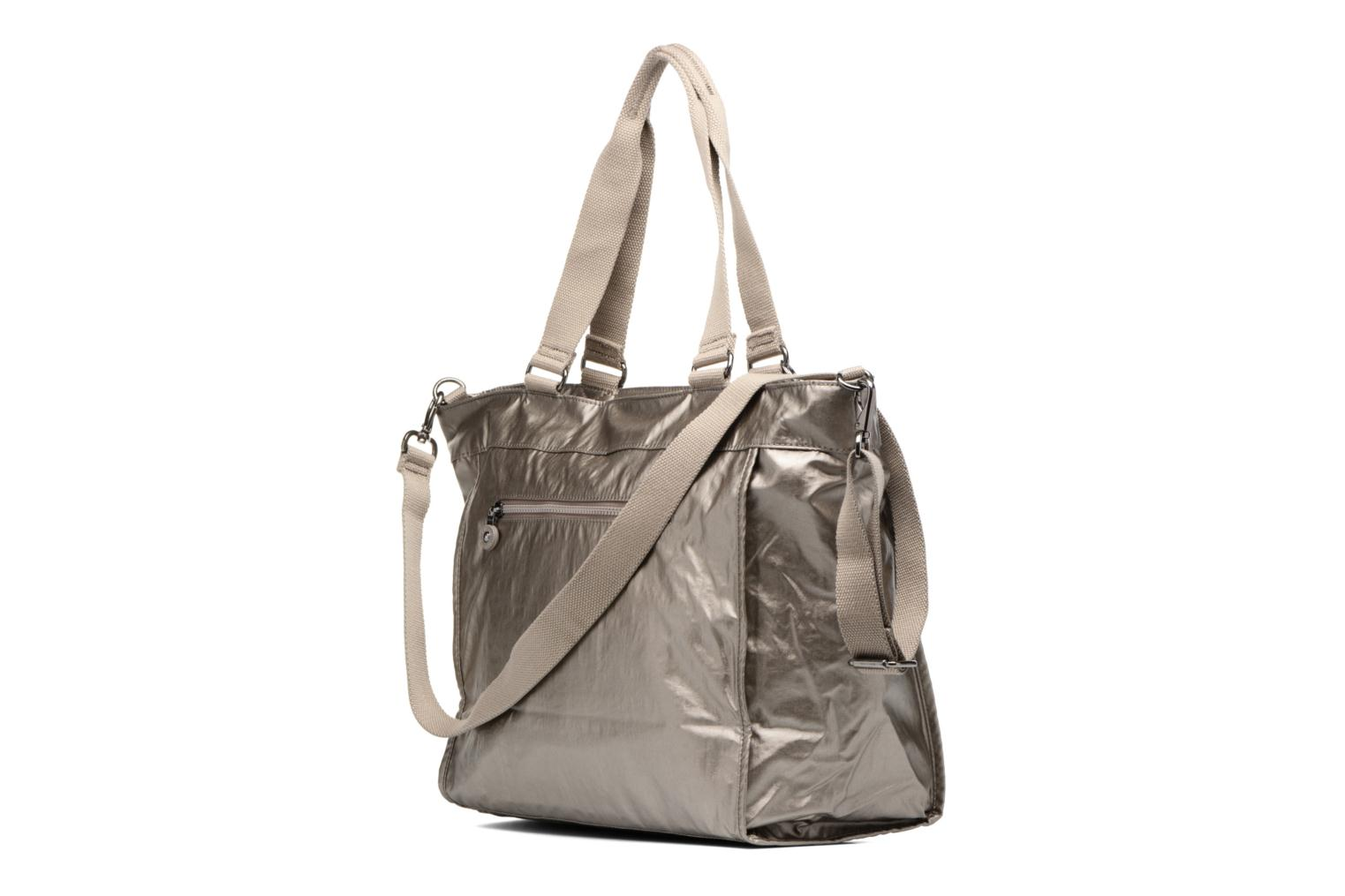 New Shopper L Metallic pewter