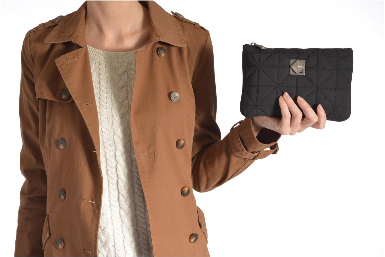 Portemonnaies & Clutches Sonia Rykiel LE CLOU NYLON Trousse plate schwarz ansicht von oben