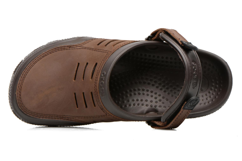 Sandalen Crocs Yukon Sport braun ansicht von links