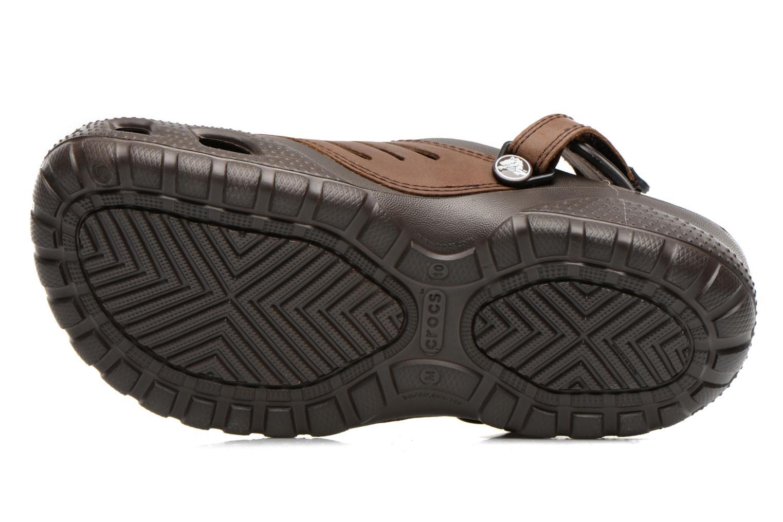 Sandalen Crocs Yukon Sport braun ansicht von oben