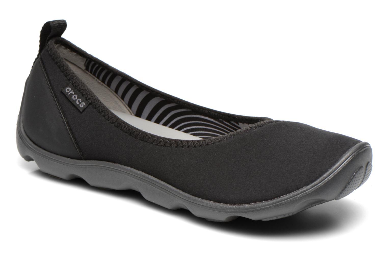 Ballerinas Crocs Duet Busy Day Flat schwarz detaillierte ansicht/modell