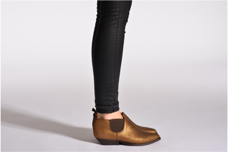 Bottines et boots Schmoove Woman Impala Low Boots Or et bronze vue bas / vue portée sac