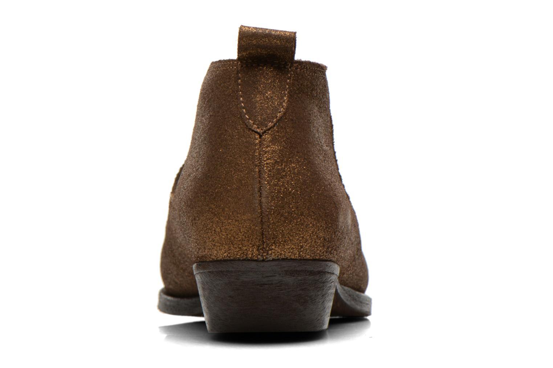 Bottines et boots Schmoove Woman Impala Low Boots Or et bronze vue droite