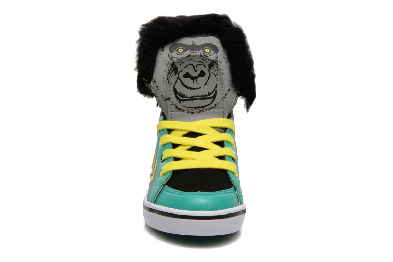 Sneaker Feiyue Delta Mid Animal 2 grau schuhe getragen