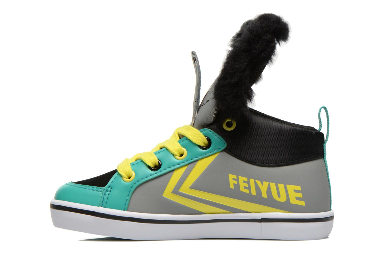 Sneaker Feiyue Delta Mid Animal 2 grau ansicht von vorne