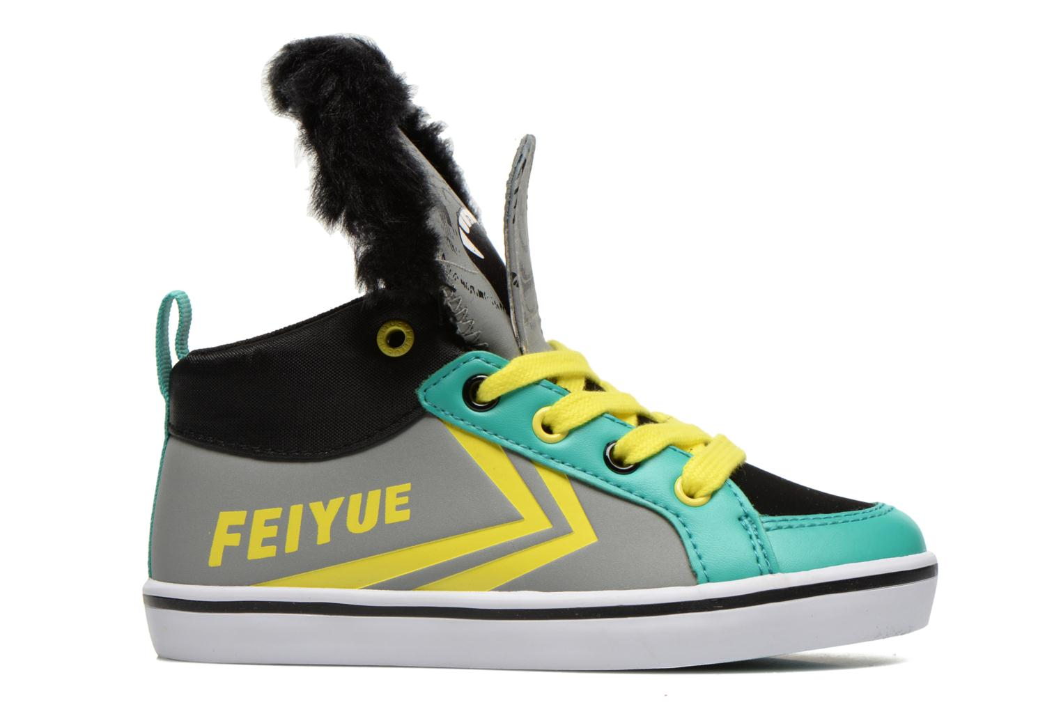 Trainers Feiyue Delta Mid Animal 2 Grey back view