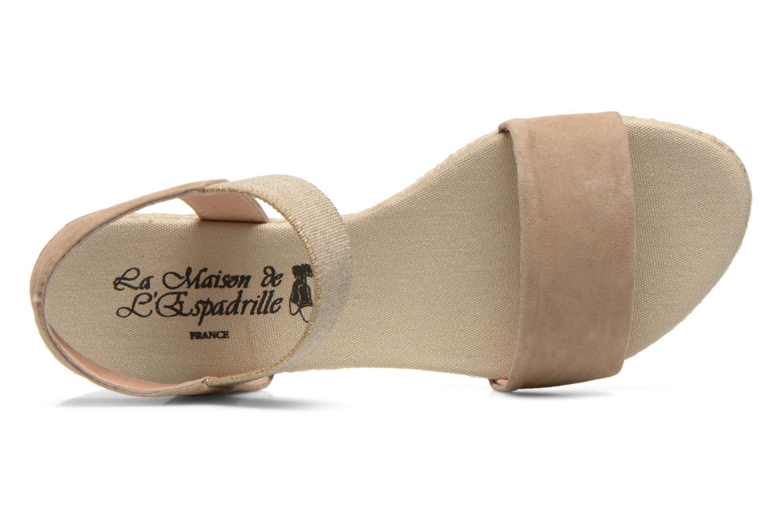 Sandales et nu-pieds La maison de l'espadrille Sandale 1091 Beige vue gauche
