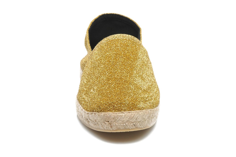 Espadrilles La maison de l'espadrille Espadrille 324 Lux Or et bronze vue portées chaussures