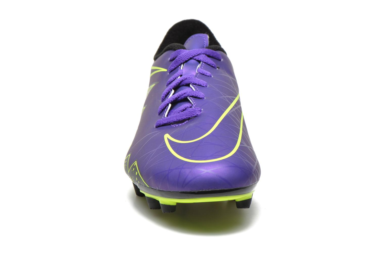 Chaussures de sport Nike Hypervenom Phade II Fg Violet vue portées chaussures