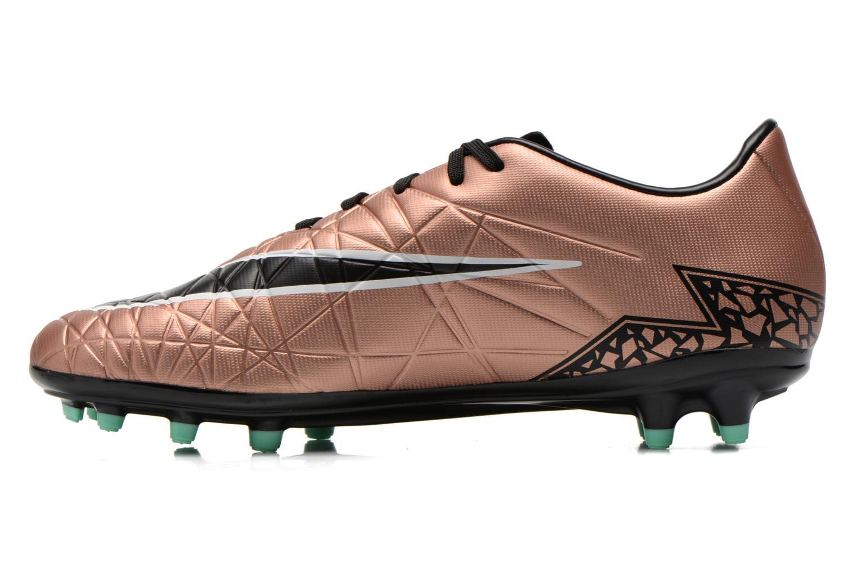 Sportschuhe Nike Hypervenom Phelon II Fg gold/bronze ansicht von vorne