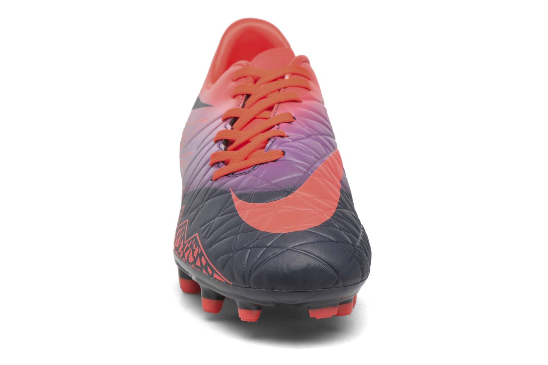 Chaussures de sport Nike Hypervenom Phelon II Fg Orange vue portées chaussures