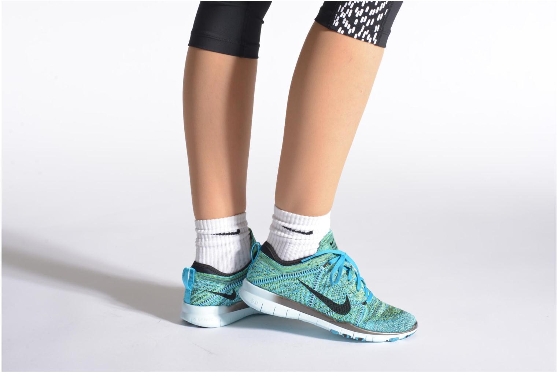 Wmns Nike Free Tr Flyknit Black/White-Rcr Bl-Brght Crmsn