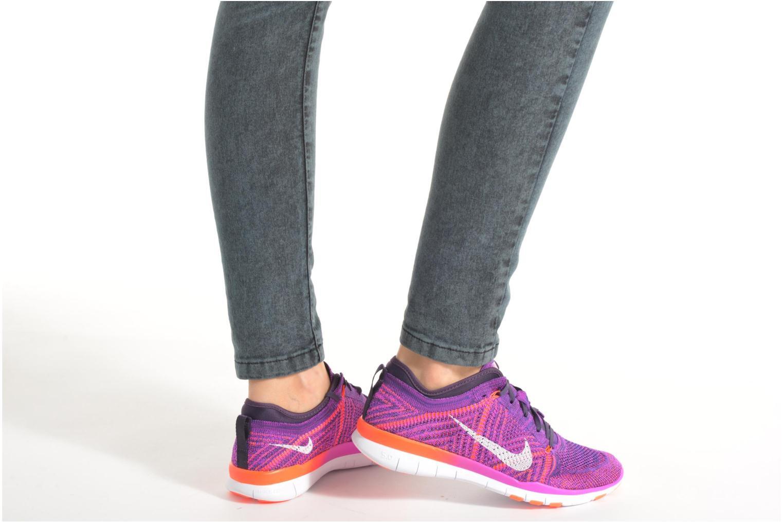 Wmns Nike Free Tr Flyknit Ttl Orng/White-Gmm Bl-Pr Pltnm