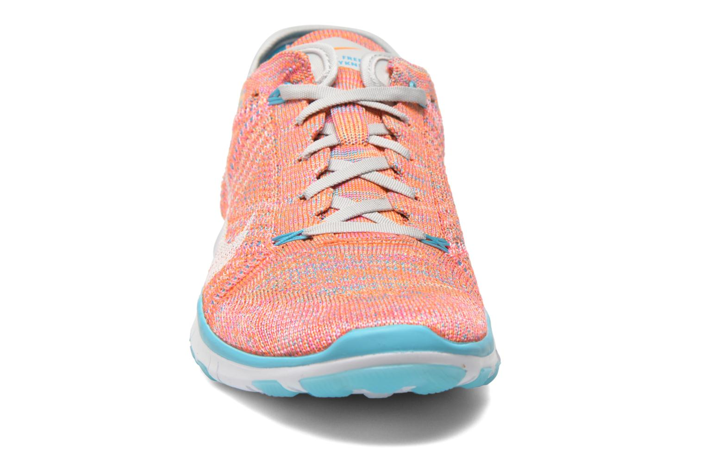 Chaussures de sport Nike Wmns Nike Free Tr Flyknit Orange vue portées chaussures