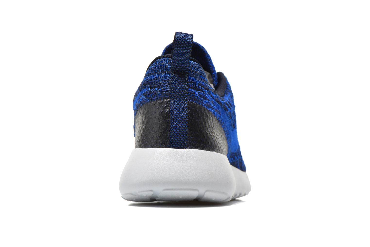 Baskets Nike Wmns Roshe One Flyknit Bleu vue droite