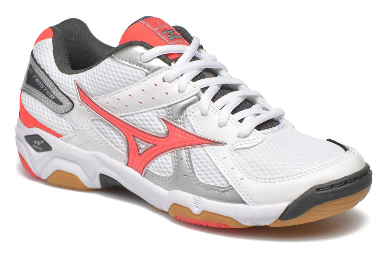 Chaussures de sport Mizuno Wave Twister 4 W Blanc vue détail/paire