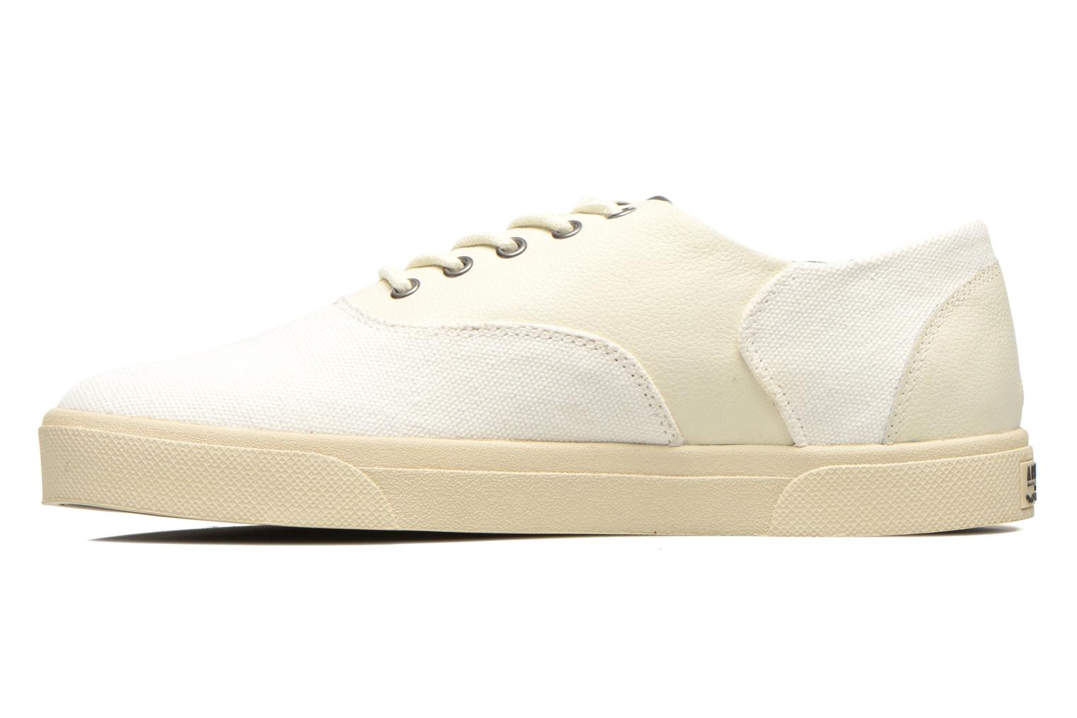 Sneakers Armistice Hope Trainer Canvas/Leather Grain Wit voorkant