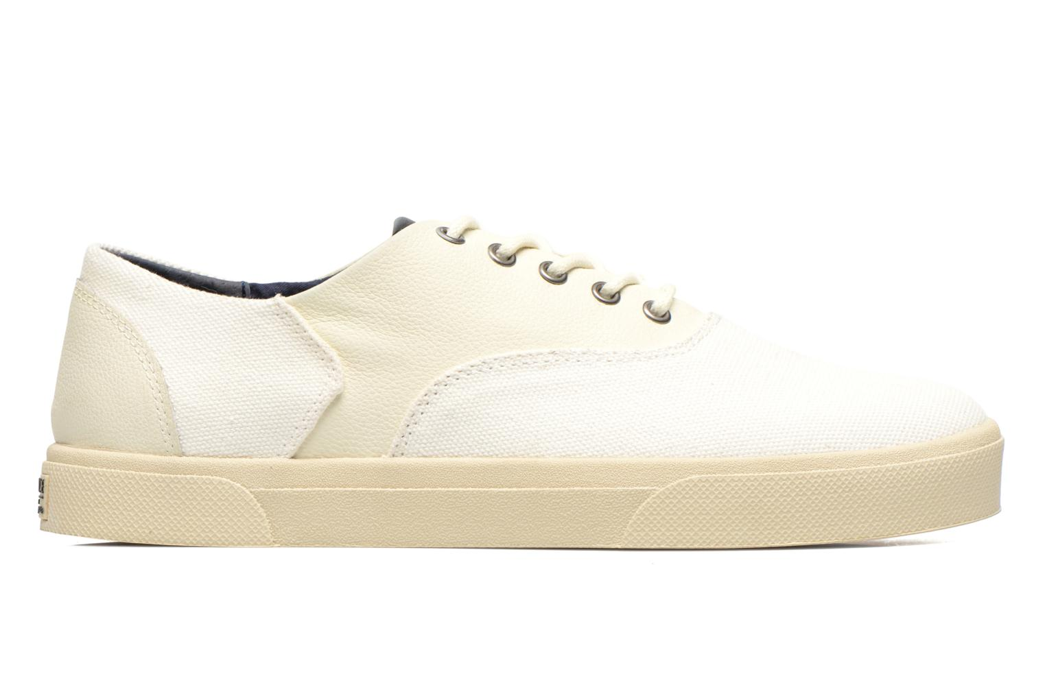 Sneakers Armistice Hope Trainer Canvas/Leather Grain Wit achterkant
