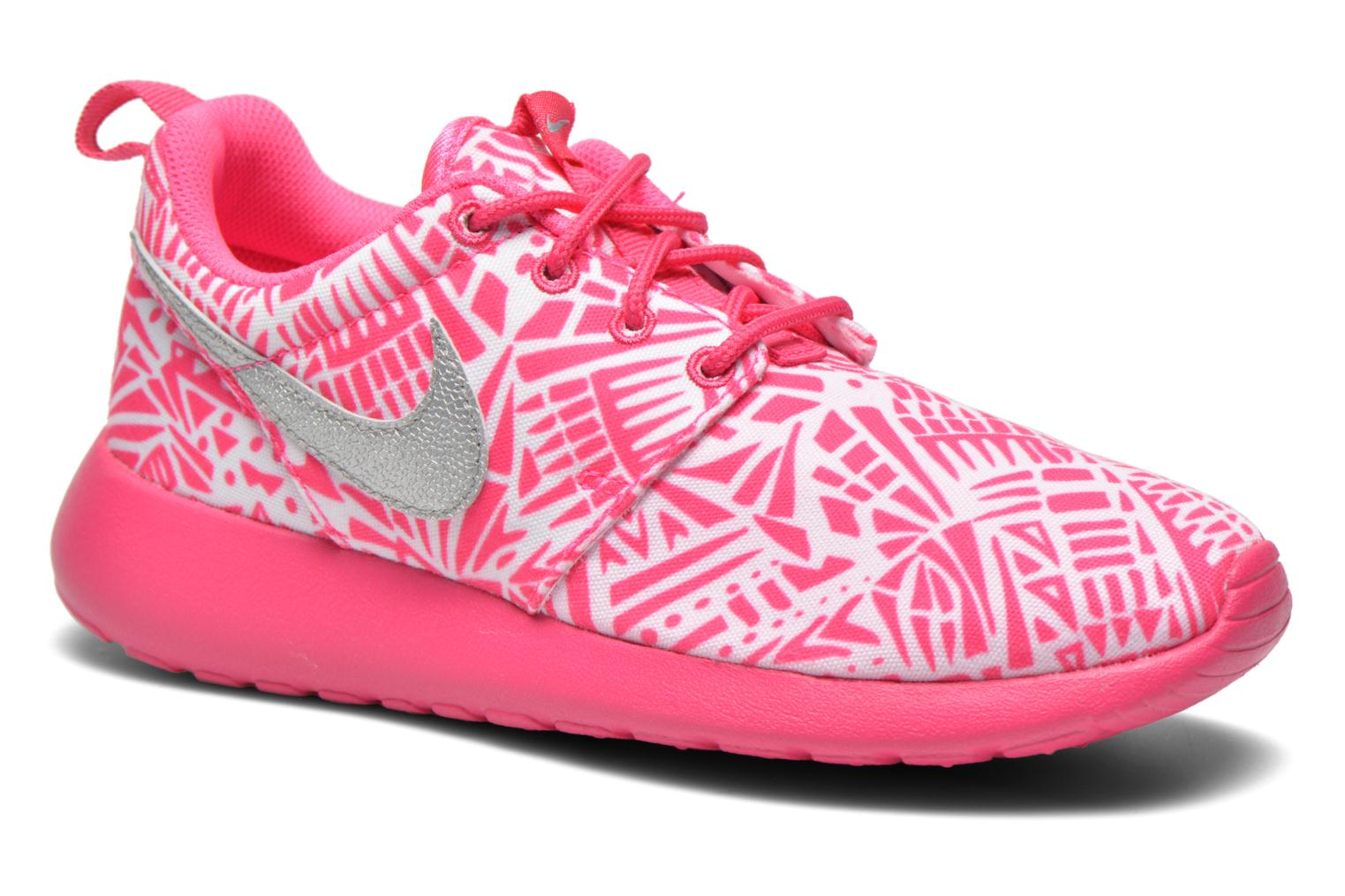 Baskets Nike NIKE ROSHE ONE PRINT (GS) Blanc vue détail/paire