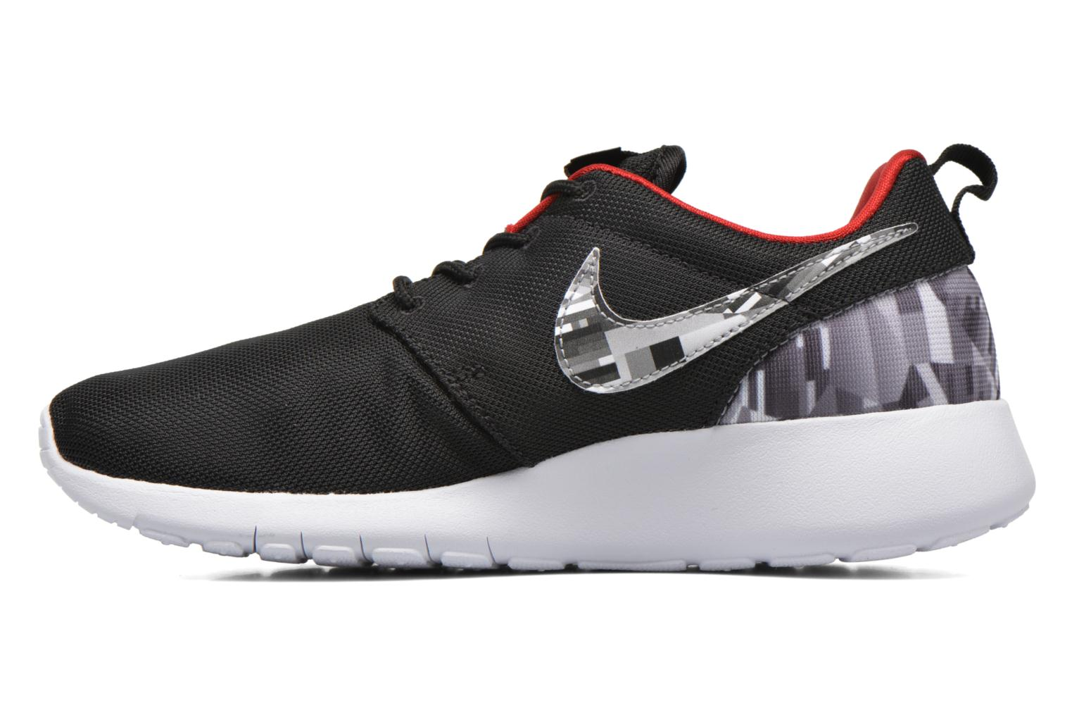NIKE ROSHE ONE PRINT (GS) Black/Wolf Grey-Gym Red-White