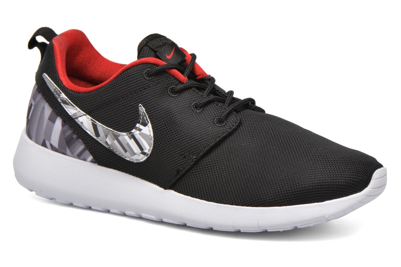 NIKE ROSHE ONE PRINT (GS) Black/Wolf Grey-Gym Red-White