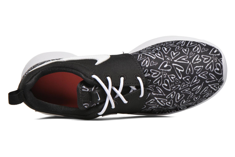 Sneaker Nike NIKE ROSHE ONE PRINT (GS) schwarz ansicht von links
