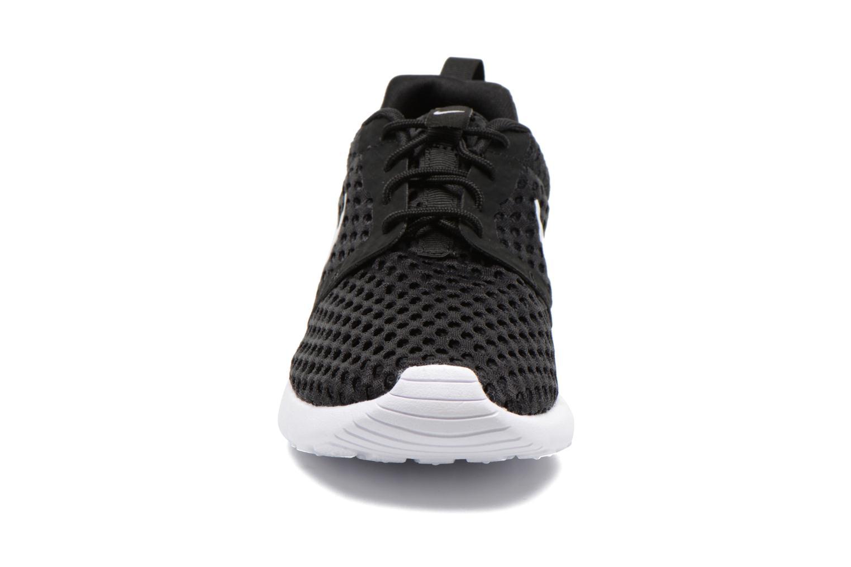 Sneaker Nike ROSHE ONE FLIGHT WEIGHT (GS) schwarz schuhe getragen