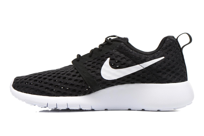 Sneaker Nike ROSHE ONE FLIGHT WEIGHT (GS) schwarz ansicht von vorne